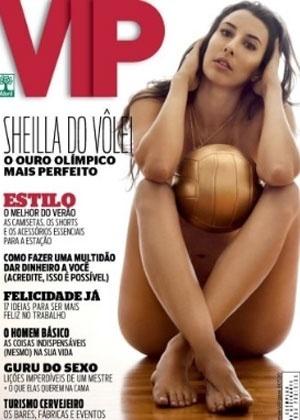VIP libera nova foto do ensaio de Sheilla mostrando tatuagem de anéis olímpicos