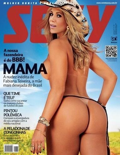 """Fabiana Teixeira é capa da revista """"Sexy"""" aos 36 anos. Que bumbum!"""