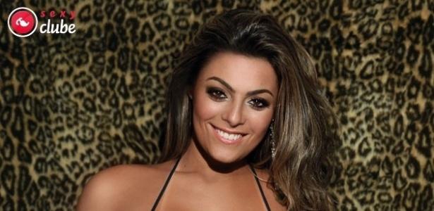 Monique Amin, um dos destaques da 12ª edição do BBB, foi capa da Sexy em junho de 2012